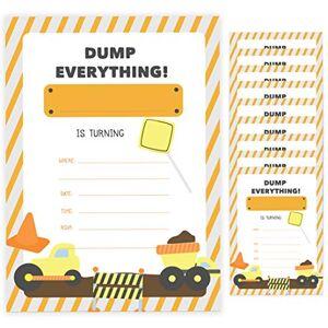 Desert Cactus Tarjetas de invitación para cumpleaños con sobres para niños (10 unidades)