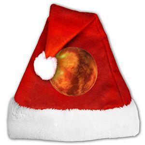 AORYGGS Mars Planet Sombrero de Navidad unisex de terciopelo dorado de Navidad para Navidad o Navidad