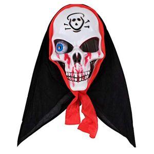 YongFeng Máscara Máscara de mueca de Halloween Accesorios de cara completa Globos oculares con luces Trucos brillantes Casco terrorista, Hecho de material plástico, Adecuado for escenas for Fiesta Hot