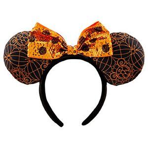 Disney Minnie Mouse Ears Headband Halloween Orange Black Theme Parks