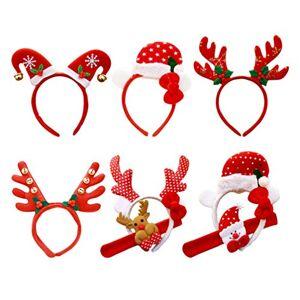 STOBOK Juego de 6 Diademas navideñas