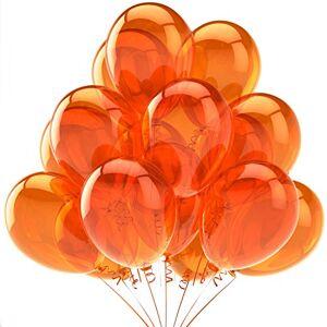 Gosear 1 Pack de 10 Pulgadas Globo de látex Circular Naranja Grande Gigante de la decoración de Halloween Fiesta de Navidad
