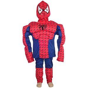 Daisy Tech Disfraz de superhéroe de Spiderman Muscle de Halloween para fiesta de disfraces, talla 4-45