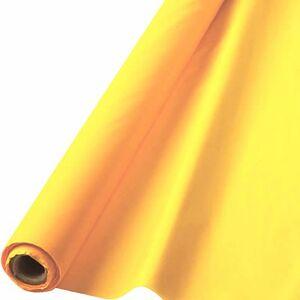 """Amscan Mantel Reutilizable (plástico, Impermeable), Rayo de Sol Amarillo, 40"""" x 250'"""
