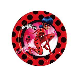 Prodigiosa: Las aventuras de Lady Bug 8 platos de 18 cm, diseño de catarina