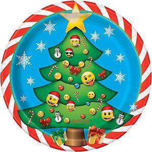 Unique Emoji Suministros de Navidad para Fiestas, Platos para Postre, Multicolor, Una Talla
