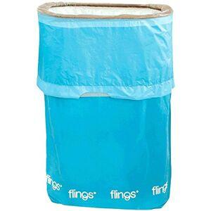 amscan Flings Caribbean Patented Pop-Up Trash Bin, 22 x 15 x 10/13 gallon, Blue by