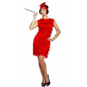 Blue Banana Ladies Sexy Red 1920s Charleston Flapper Dance Great Gatsby Fancy Dress Costume Outfit STD & Plus Size