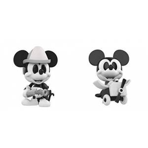 Funko Mini Vinyl Figure: Disney Black and White Firefighter and Plane Crazy Mickey Mouse 2 Pack, Fall Convention Exclusive
