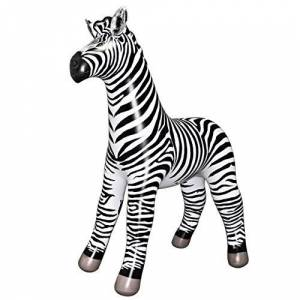 "Jet Creations Inflatable Lifelike Life Size Replica Zebra, 88"" Tall"