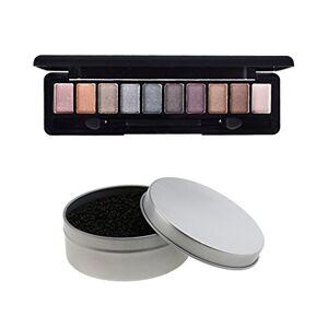 MagiDeal Limpiador de Cepillos de Maquillaje Esponja Removedor de Color + Paleta Shimmer Sombreador de Ojos Mate con Pincel