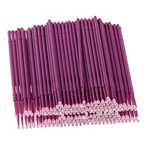 MagiDeal 200pcs Desechable Micro Cepillos Aplicadores Rimel Extensión de Pestaña Color Púrpura