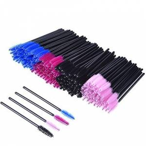 eBoot 200 Pieces Disposable Mascara Wands Eyelash Brushes Eye Lash Makeup Applicators Cosmetic Brush Kit, Multicolor