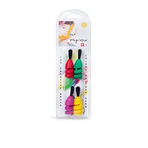FingerMax Juego de 4 pinceles (tamaño universal) para convertir tus dedos en pinceles, fabricado en Alemania