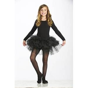 Forum Novelties Kids Fluffy Tutu Costume, Black, One Size