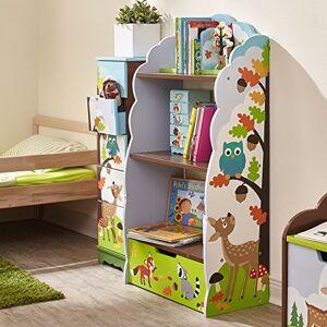 Fantasy Fields Estantería de Madera para niños con diseño de Rosa Agrietada temática con Almacenamiento, Enchanted Woodland, Multicolor