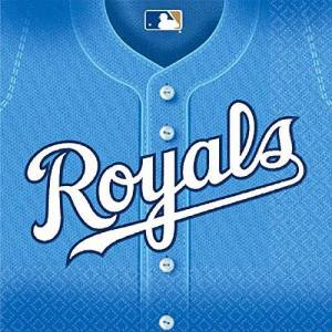 Amscan MLB Kansas City Royals Luncheon Party Napkins (36 Piece), Blue, 6.5 x 6.5