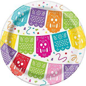Unique Plato de papel mexicano Fiesta, 8 unidades