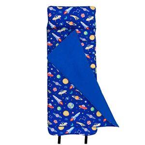 Wildkin Colchoneta de siesta original, incluye manta y almohada integradas, perfecta para guardería y preescolar o para tomar una siesta en el GoWorld, Out of this World, Out of this World, OK Nap Mats