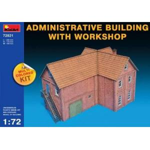 Miniart Administrative Building with Workshop 1:72 Scale Military Model Kit