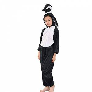 MISWSU Kids Penguin Onesie Animal Pijama Disfraz Cosplay Penguin Jumpsuit para niños pequeños Fiesta de Disfraces (Negro, 120)