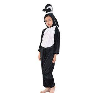 MISWSU Kids Penguin Onesie Animal Pijama Disfraz Cosplay Penguin Jumpsuit para niños pequeños Fiesta de Disfraces (Negro, 130)