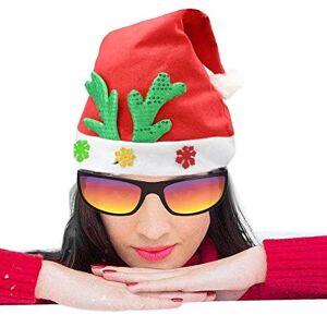ZHUXIAOMING Fuentes del partido de Navidad no tejido de la tela de la decoración SChristmas del sombrero de Santa cuerno de ciervo adulto Patrón Vestirse sombrero de Navidad, patrón al azar de entrega