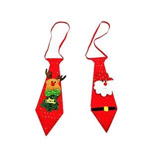 SUPVOX 2 Piezas Corbata Luminosa de Navidad Santa elk Corbata Luminosa de Lentejuelas Temporada navideña Disfraces de Fiesta decoración de Corbatas