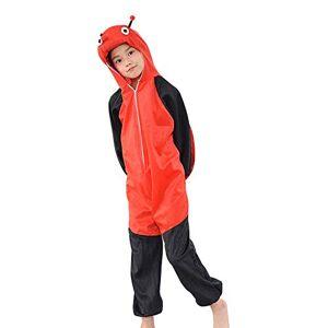 MISWSU Animal Pyjamas Costume Ladybug Cosplay Jumpsuit para niños pequeños (Rojo, 140)
