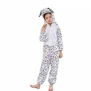 MISWSU Animal Pyjamas Costume Cosplay Jumpsuit para niños pequeños (Blanco, 140)