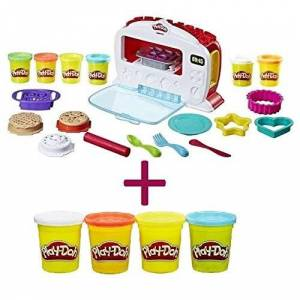 FIVEDEALS Play-Doh Kitchen Creations Magical Oven + Free Additional Pack of 4 Play- Doh, Classic Colors