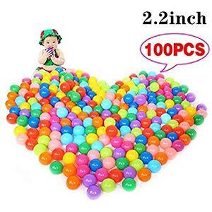 XINdream 100 Bolas de océano, Bolas de Juego Coloridas para niños, Juguete Suave con Bolsa de Malla de Almacenamiento Reutilizable y Duradera, diámetro de 2,2 Pulgadas