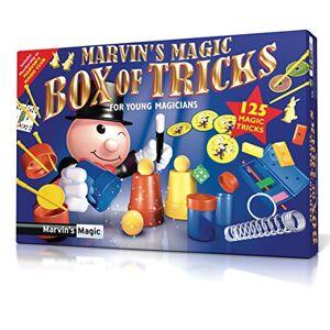 Marvin's Magic '125 Caja de Trucos, 125 Trucos mágicos para niños, Juego para niños y niños, Tazas y Pelotas, Trucos de Tarjetas, Conejos mágicos de Esponja, Escape de Bloques de Color