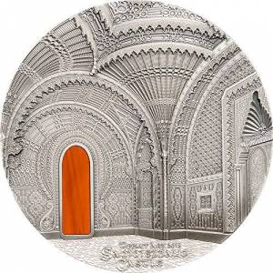 Power Coin Tiffany Art Orientalism Castillo de Sammezzano 1 Kg Kilo Moneda Plata 50$ Palau 2018