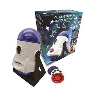 Lexibook Proyector de planetario 2 en 1 Constelaciones e imágenes, 24 imágenes para Descubrir Espacio, 2 cúpulas de constelación, Stem, Blanco/Azul, NLJ180