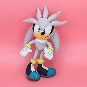N/D Peluche 32cm Sonic The Hedgehog Peluche Plateado The Hedgehog Crema Plateado Peluche Peluche Juguete Peluche Peluche Suave Sonic Juguete