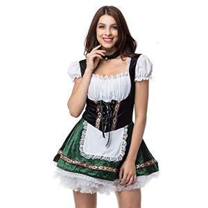 ZSH Disfraces De Halloween, Trajes Atractivos De Cosplay De La Criada De Cerveza, Halloween Se Visten con Trajes De Eventos Promocionales De Ropa, 8 Colores ( Color : B , Size : XL )
