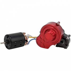 Tomantery RC Center Gearbox RC Brush Motor Tiempo de Funcionamiento prolongado Excelente par para 1/10 SCX10 RC Crawler(27T)