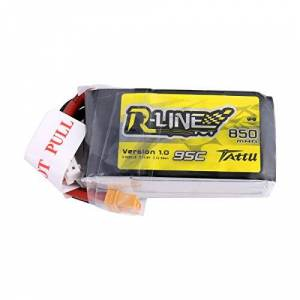 TATTU R-Line 850mAh 14.8V 95C 4S LiPo Battery Pack with XT30 Plug for Multirotor FPV from Size 100 to 180