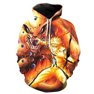 Vivibridal hombres Naruto moda suéter sudadera sudadera con capucha 3D Cosplay disfraz de ropa de chamarra color5 S