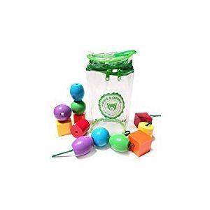 Kids Korner Juguetes de Cordones para niños pequeños Juguetes educativos Montessori con Cordones, Btt-88, 12pc Beads
