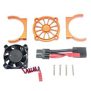 Cinhent Radiador de motor de aleación de aluminio universal con ventilador Ensamblaje de ventilador de enfriamiento del motor para 1/10 TRAXXAS E REVO 2.0 Disipador de calor del motor RC Parte del automóvil multicolor