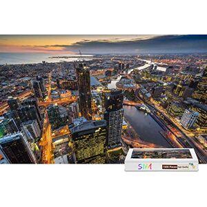 Sim-Puzzle Rompecabezas de 1500 Piezas de la Torre Eureka de Australia Melbourne de Basswood, 34,4 x 22,6 Pulgadas