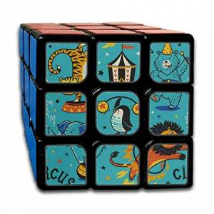 JUNJIEshop Custom 3x3 Speed   Cube Kids Best Brain Training Toys 3x3x3 Surprise Creative Happy Painting Puzzle Cube Party Game para niños niñas niños niños pequeños-55mm