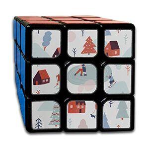 JUNJIEshop Rompecabezas personalizados de 3x3 cubos Los mejores juguetes de entrenamiento cerebral 3x3x3 Cute Colorful Cartoon Country House 3x3 Puzzle Cube Party Game para niños niñas niños pequeños-5