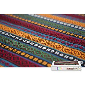 Sim-Puzzle Basswood Puzzle de 1500 Piezas, Textura de Tela, Colorido, 34.4 x 22.6 Pulgadas
