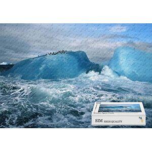 Sim-Puzzle Rompecabezas de Madera de tamaño Grande con Aguas ásperas, 34.4 x 22.6 Pulgadas, 1500 Piezas
