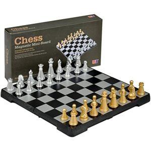 Yellow Mountain Imports Travel Magnetic Chess Mini-Set 6.3''