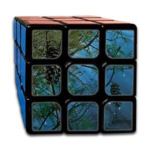 QYUESHANG Custom 3x3 3by3 Speed   Cube Los mejores juguetes de entrenamiento cerebral 3x3x3 Conifer Starry Sky Pine Tap Pine Cones Tree Kids Toys Rompecabezas Juego de fiesta para niños Niñas Niños pequeños-55