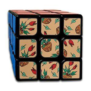 Lajro Custom 3x3 3 3 3 Speed   Cube Los Mejores Juguetes de Entrenamiento Cerebral 3x3x3 Red Beautiful Retro Floral Calla Speed   Cubes 3x3 Juego de Fiesta para niños niñas niños pequeños-55 mm